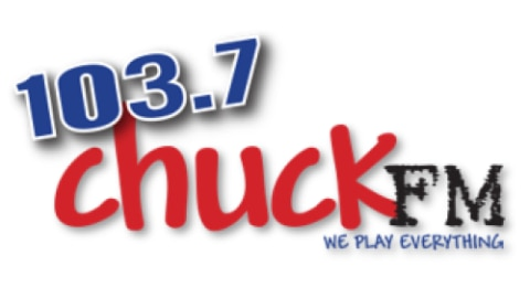 103.7 Chuck FM - We Play Everything Logo